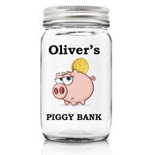 Personalised Piggy Bank Glass Money Jar Gift PMJ-21
