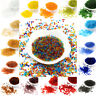 50g Transparent Glass Seed Beads Tiny Round Smooth Solid Color Pony 2mm 3mm 4mm
