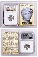 Roman Empire, Silver Denarius of Faustina Jr. Golden Age Hoard NGC AU SKU48337