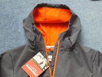 Brand New Men's Soft shell Sports Jacket Size XL Grey (orange trim)