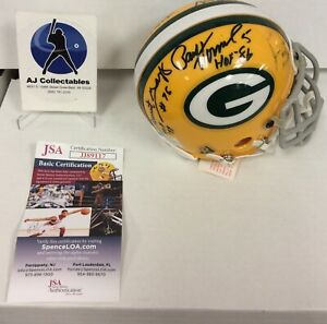 Green Bay Packers Autographed Mini Helmet Multi, Forrest Gregg, Paul Hornung Hof