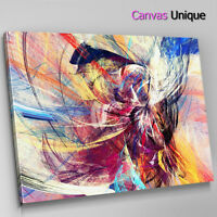 AB1391 yellow blue modern Abstract Wall Art Picture Large Canvas Print