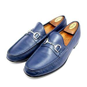 Mens Gucci Horsebit 367762 Loafers Shoes Blue UK 9.5  US 10 Eu 43.5 £575