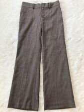 NWT Banana Republic Martin Fit Wool Blend Brown Herringbone Pant Size 6 *damage