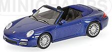 Porsche 911 Carrera 4S Cabriolet Typ:997 2004-11 blau blue metallic 1:64 Minicha