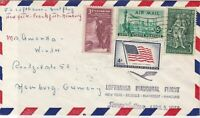 United States 1958 Airmail Lufthansa & Superstar Slogan Four xStamps Cover 22228