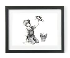 Wall Art A4 Picture Print of Banksy Game Changer Benefits NHS Charities 🌈