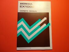 NEW OEM ORGINIAL FACTORY HONDA OWNERS MANUAL EX1000
