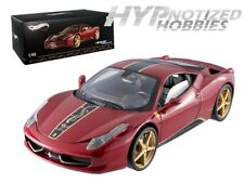 HOT WHEELS ELITE 1:18 FERRARI 458 ITALIA CHINA LIMITED EDITION DIECAST RED BCK12