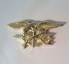 U.S. Navy Seal Trident  Gold Hat Pin  1 1/4""