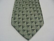 VAN HEUSEN - Verde Menta geométrico - 100% Corbata De Seda
