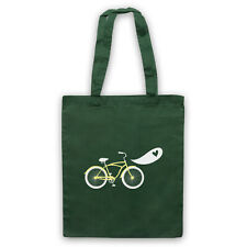 BIKE LOVE RETRO ILLUSTRATION CYCLING LOVER BICYCLE SHOULDER TOTE SHOP BAG