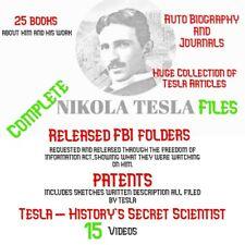 Nikola Tesla Files- Histories Secret Scientist -journals, videos, FBI files!