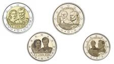 PREVENTE 4 x 2 Euros Commémorative Luxembourg 2021 Duc + Mariage 2 Versions