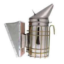 Bee Hive Smoker Stainless Steel w/ Heat Shield Protection Beekeeping Tool LS4G
