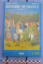 Manuel scolaire L'histoire de France (CM1), Istra élémentaire, 1989,128 pages,