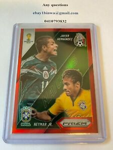 Panini Prizm 2014 World Cup red matchups Neymar Jr Vs Javier Hernandez 28/149