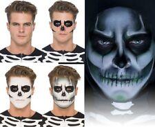 Halloween brilla en la oscuridad esqueleto kit pintura cara Smiffys