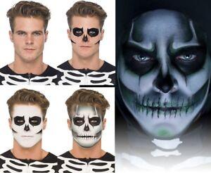 Skeleton Face Paint MakeUp Kit Glow in the Dark Halloween Fancy Dress Make Up