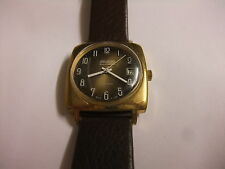 orig. DDR GUB Glashütte Uhr Herren Armbanduhr Spezimatic 26 Rubis Kal. 75 läuft