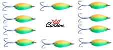 10 ondulanti 5g tiger trout area game spoon pesca trota lago fiume spinning