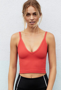 NEW Free People Movement Seamless Watch Out Tank Crop in Red XS/S-M/L $48.80