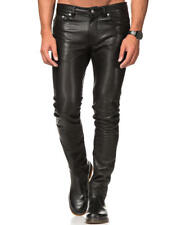 BLK DNM Mens Leather Pants 25 Black Size 31x32 Moto Biker New With Tags