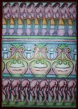 Mirabelle Dors pastel et technique mixte sur carton signée art brut surréalisme