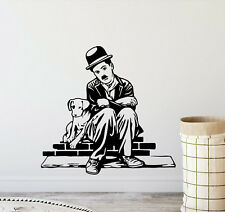 Charlie Chaplin Wall Decal Chaplin and Dog Vinyl Sticker Movie Decor Poster 858