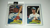 Ken Griffey Jr - Topps PROJECT 2020 Card + Topps 1989 ROOKIE Card UNCIRCULATED