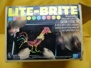 Vintage 1978 Hasbro Lite-Brite. Complete with box and instructions.