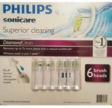 Genuine Philips Sonicare DiamondClean 6 x Replacement Electric toothbrush heads