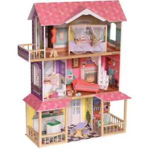 KidKraft Viviana Wooden Dollhouse Kids Girls Doll House Wooden Toys Gift NEW