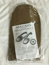 Moccasin Craft Kit Men Size 13 Hospitalized Veterans Tan Brown Leather
