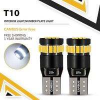2x ERROR FREE CANBUS T10 W5W 501 XENON WHITE LED INTERIOR DOME SIDE LIGHT BULB