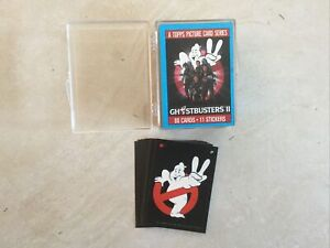 Ghostbusters II Full Set Of 88 Trading Cards & 11 Stickers - Topps 1989