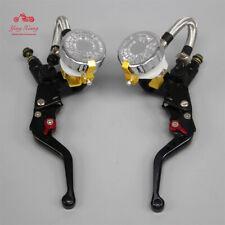 7/8'' Clutch Brake Levers Master Cylinder Reservoir Set For Suzuki Motorcycle