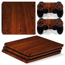 Sony PS4 Playstation 4 Pro Skin Aufkleber Schutzfolie Set - Wood 3 Motiv