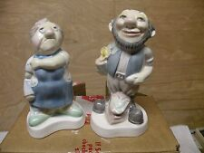 Welshcrest Old Man And Old Women Figurines
