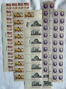 USPS 18 cent postage stamp blocks, 14 Topics, 616 Stamps, Face Value:$110.88 MNH