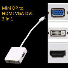 MINI DISPLAY PORT 3 IN 1 DP TO HDMI DVI VGA CABLE ADAPTER MACBOOK NEW SY