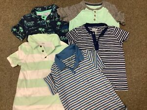 LOT OF FIVE BOYS SHORT SLEEVE SHIRTS SIZE 5 OLD NAVY SONOMA EPIC THREADS