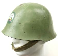 WW2 TYPE YUGOSLAVIAN ARMY M59 STEEL HELMET (No3)