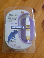 Bandridge DisplayPort Stecker/ Display Port Stecker, 3 m, neu, weiß