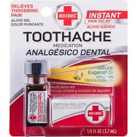 New Red Cross Toothache Medication 0.125 Fl Oz.