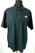 Adidas Green Bay Packers Polo Shirt size M Black Mercerized ClimaLite Logo Chest