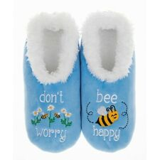 Snoozies washable cosy feet coverings Style simply pairables Bee Happy Blue