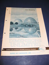 1965 Super Sky Products Catalog Asbestos Cloth Aluminum Skylights