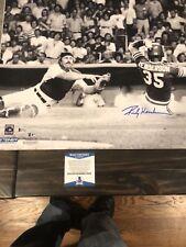 Autographed Rickey Henderson 16x20 license photo Beckett slide Thurman Munson