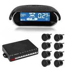 Car Parking Sensor Kit LED Display 8 Rear Front View Reverse Backup Radar Tool